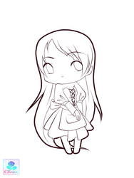 Lineart chibi 1 by Cannira