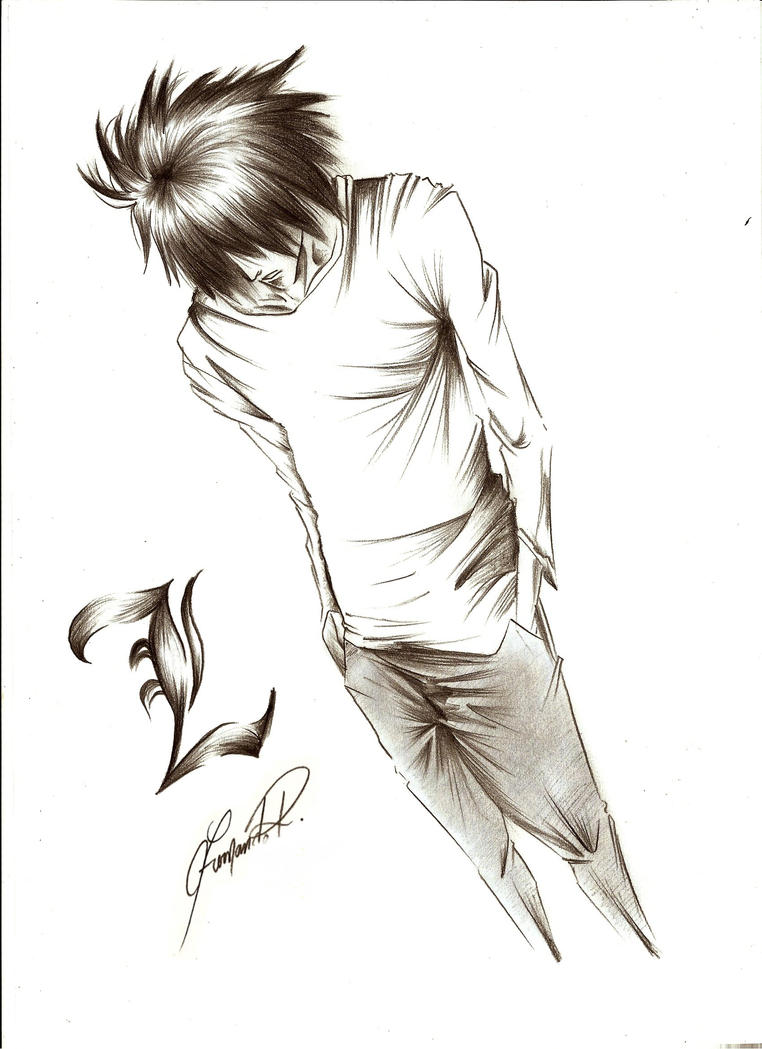 Death note by Fe...L Death Note Drawing