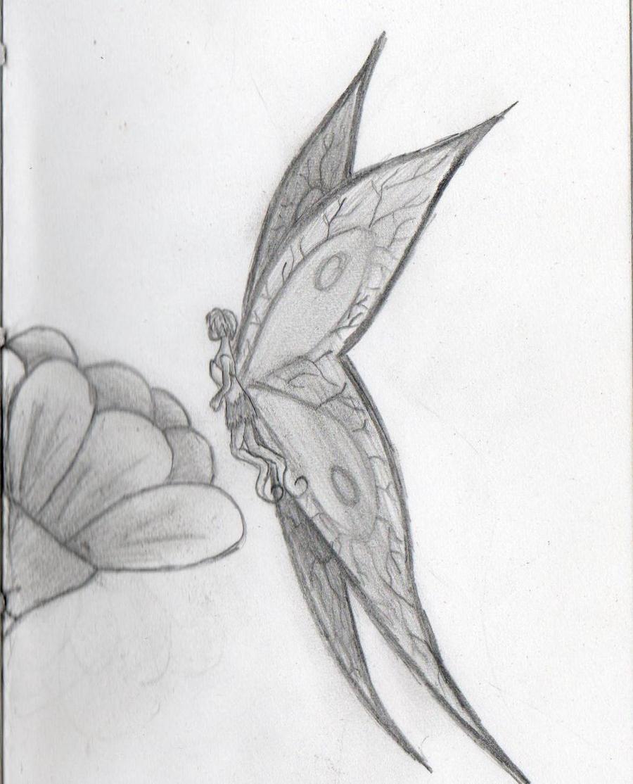 Sketches Of Pretty Fairies Fairy sketch by lushhhhhh