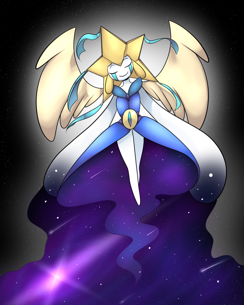 Mega Jirachi (Fakemon) by KarlaDraws14