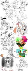 Sketch Dump 5 by KarlaDraws14