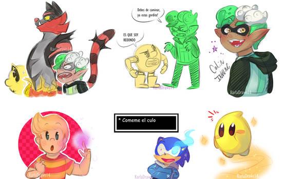 Doodles Night Smash Bros by KarlaDraws14