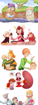 Kids and Parents by KarlaDraws14