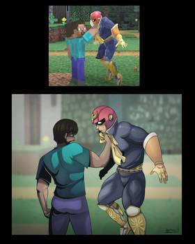 Steve vs Captain Falcon