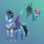 Bad End AU:Chrysalis X Rainbow Dash