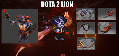 Dota 2 Madness - Lion by GabrielBarsch