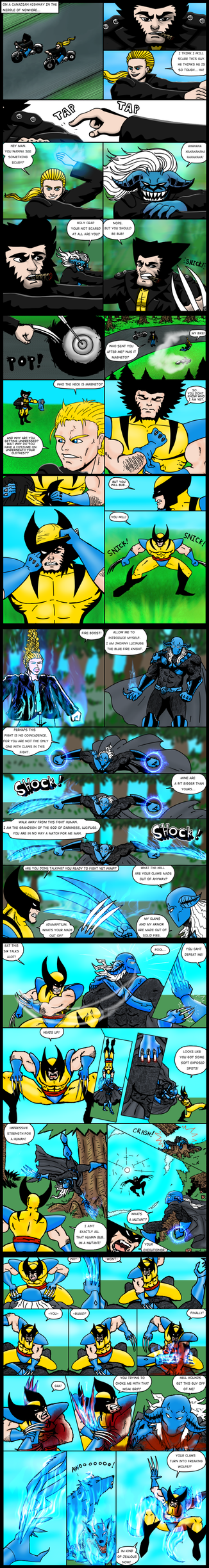 WOLVERINE vs DEMON FUSE page 1-5 by Jesse-the-art-maker