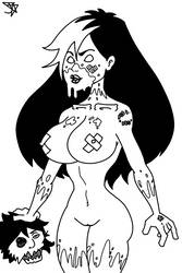 Zombie Tramp pre colored by Jesse-the-art-maker