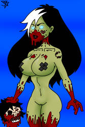 Zombie Tramp Colored by Jesse-the-art-maker