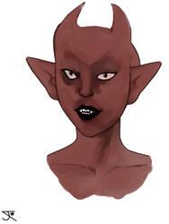 demon head sketch wip 5