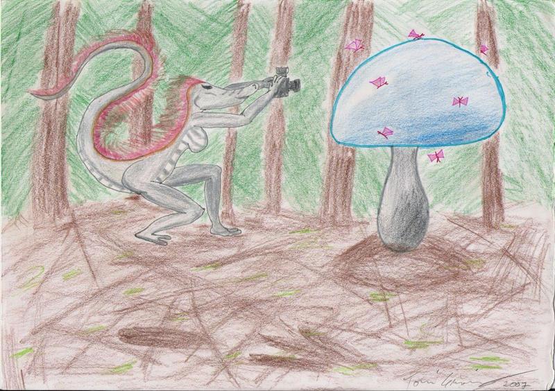 Magic mushroom swarming