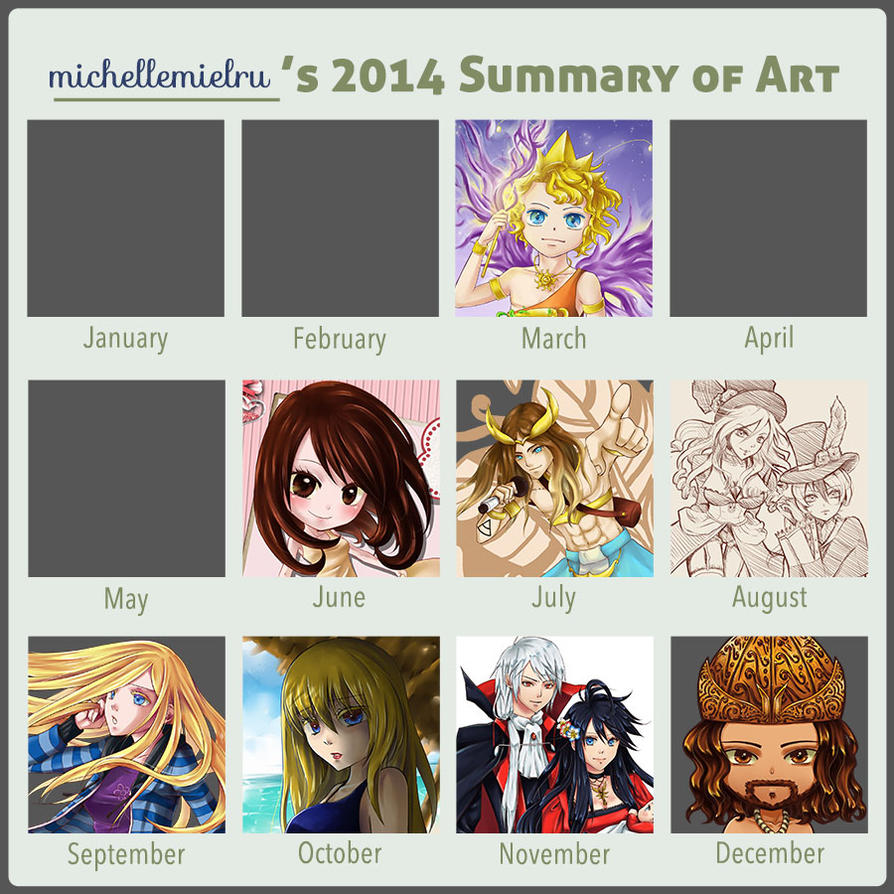 2014 Summary of Art by mielru