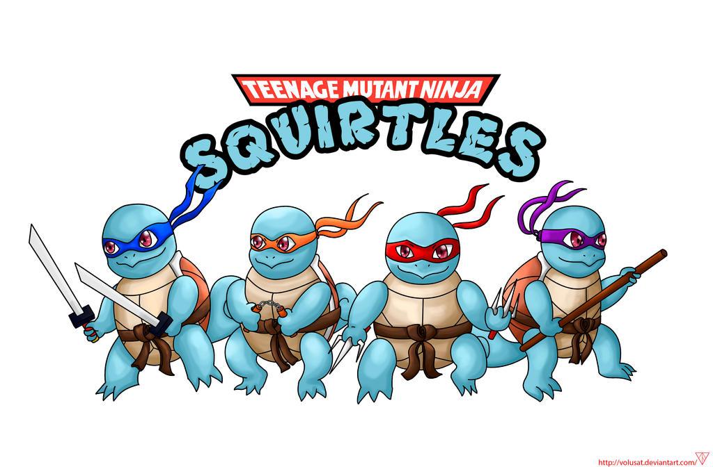 Teenage mutant ninja squirtles by volusat