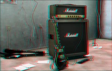 My guitar Stuff ANAGLYPH by gajdoslevente