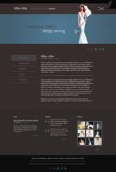 wedding dress web design by gajdoslevente