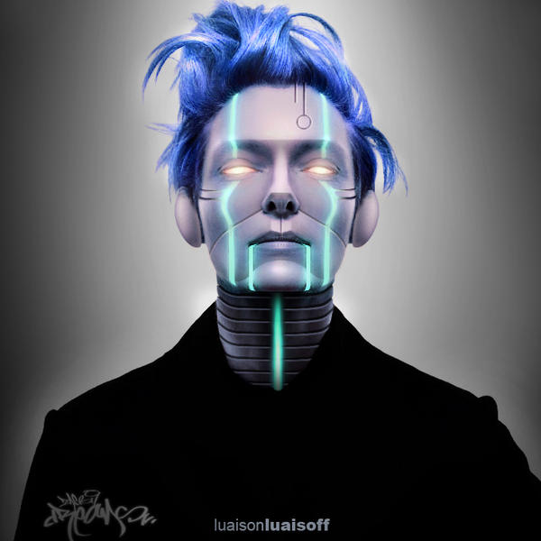 Tilda Swinton Robotized by luaisoh