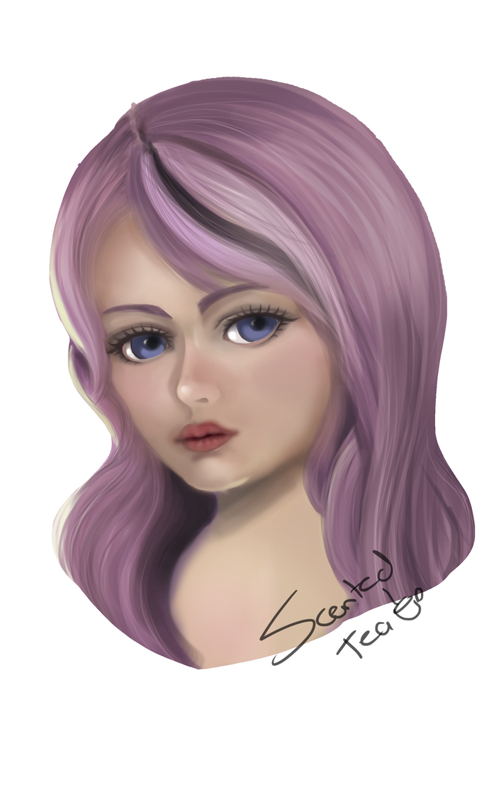 Practice 1 - Semirealism from Sakimichan Tutorial by Scented-Tea