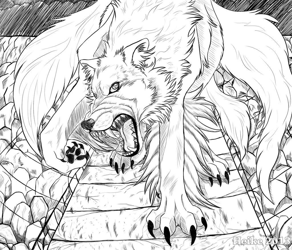 White Anime Wolf Demon Demon wolf gone crazy