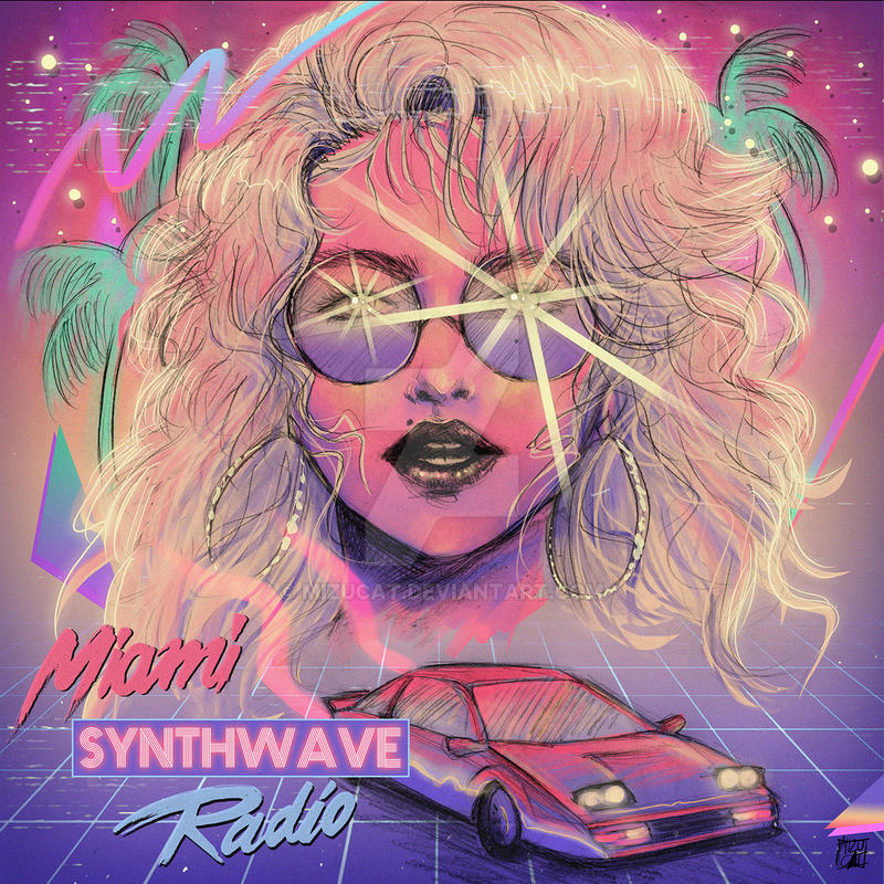 Miami Synthwave Radio by MizuCat on DeviantArt