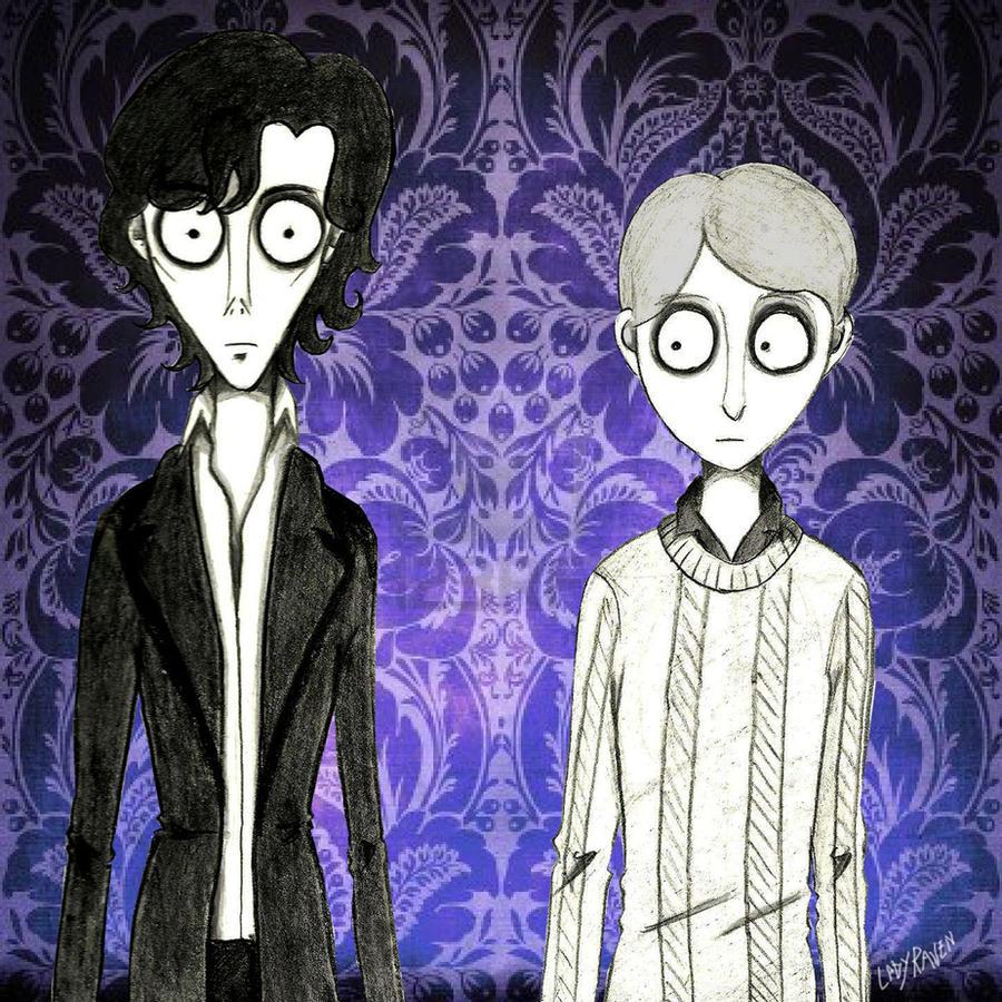 Sherlock e John BBC (style Tim Burton) by LedyRaven