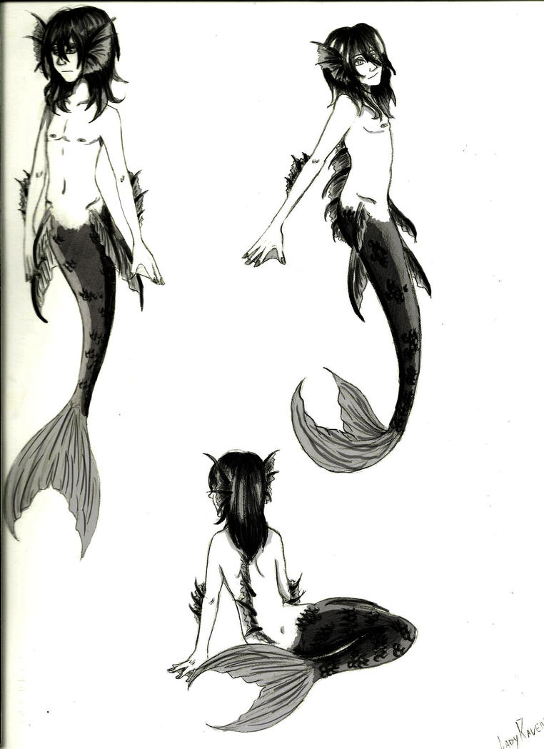 study the little merman by LedyRaven