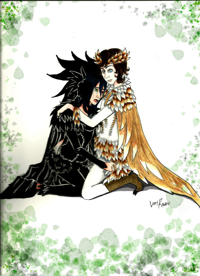 the black swan and the owl by LedyRaven