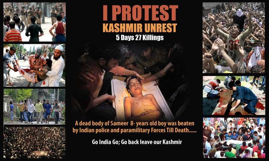 Kashmir Unrest:We Want Freedom by sheikhrouf23