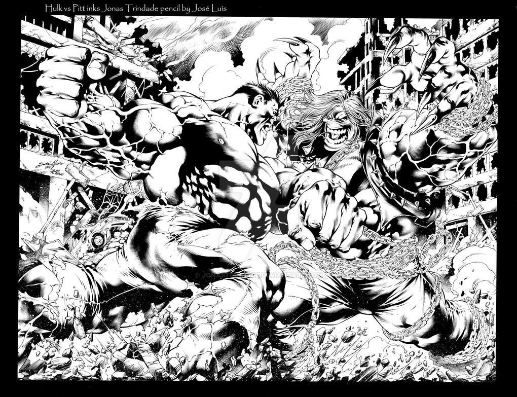Hulk vs Pitt by JonasTrindade