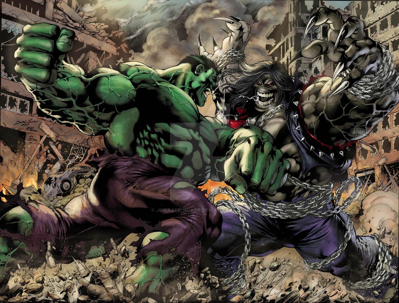 Hulk vs Pitt colors by JonasTrindade