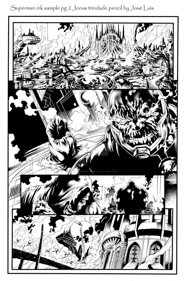 superman ink sample pg 2 by JonasTrindade
