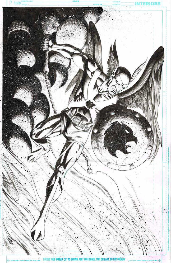 Hawkman draw for fun by JonasTrindade