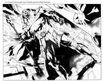 JLA 16 pg 8 and 9 ink sample