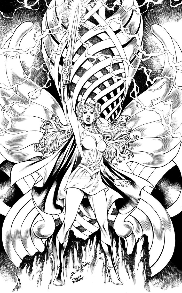 She-Ra princess of  power inks by JonasTrindade