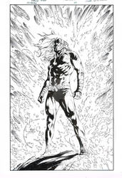 Aquaman cover 43 ink recreation