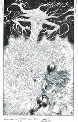 Wonder Woman agent of Peace #12 cover inks