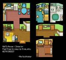 Ash's House Interior Tiles by morlockhater