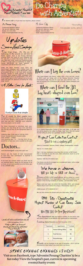 PAH Charity Newsletter Design