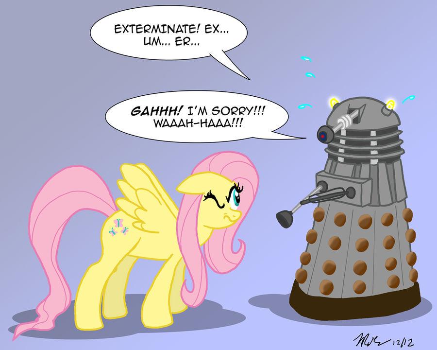 MLPFIM: Pony vs. Dalek 1 -- Fluttershy