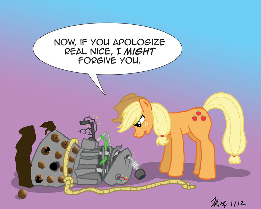 MLPFIM: Pony vs. Dalek 3 -- AppleJack