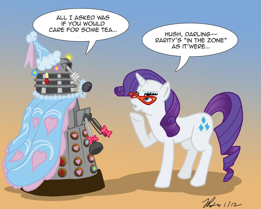 MLPFIM: Pony vs. Dalek 6 -- Rarity by the-gneech