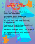MLPFIM: Ponyville Talent Show Flyer