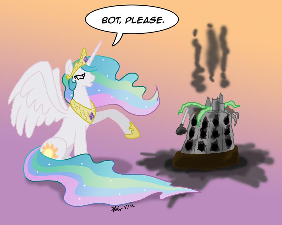 MLPFIM: Pony vs. Dalek 7 -- Princess Celestia by the-gneech