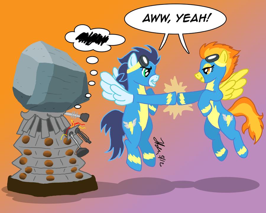 Pony vs. Dalek #8: Spitfire and Soarin by the-gneech