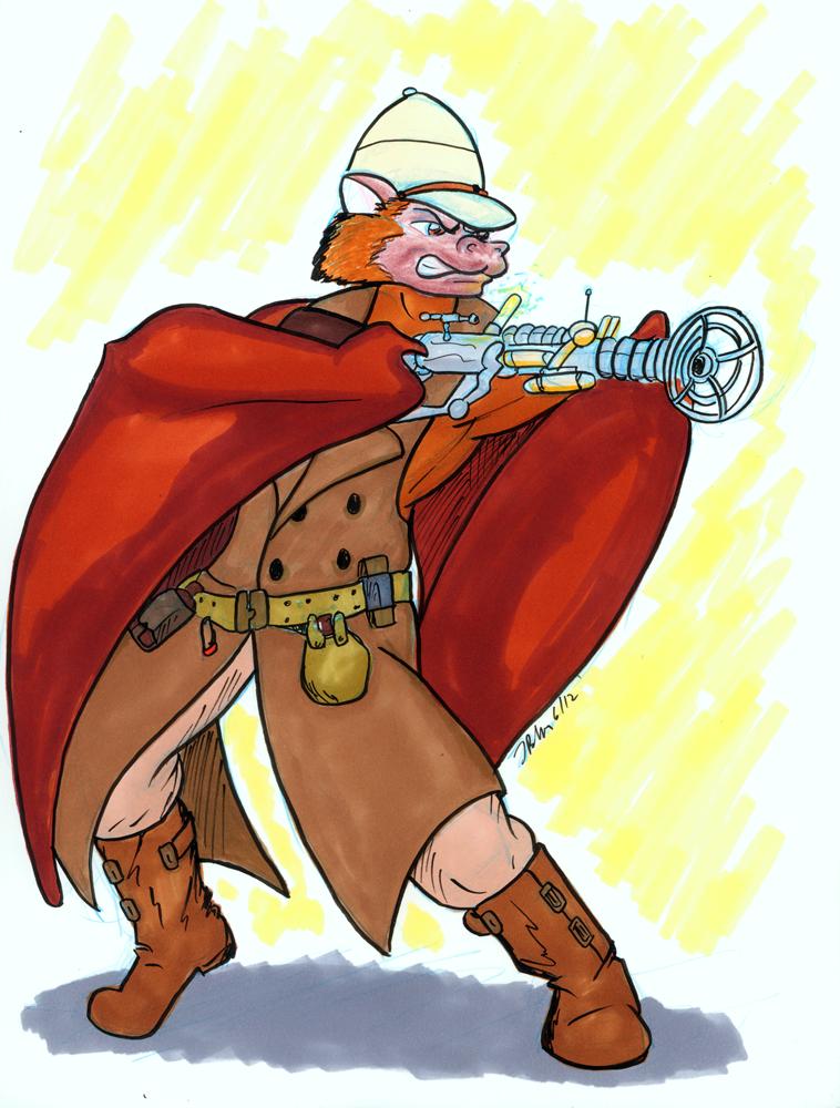 Dewhitton Commish: Steampunk Flying Fox