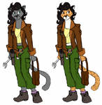 Verity as Furry Development Sketches 1