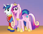 Foalpapers Commish Teaser -- Armor and Cadence