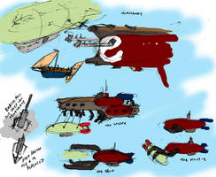 Airship Boarding Concepts by the-gneech
