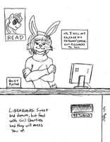 Badass Librarian Bunny by the-gneech