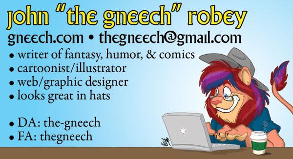 Gneech Bizcard 2013 by the-gneech