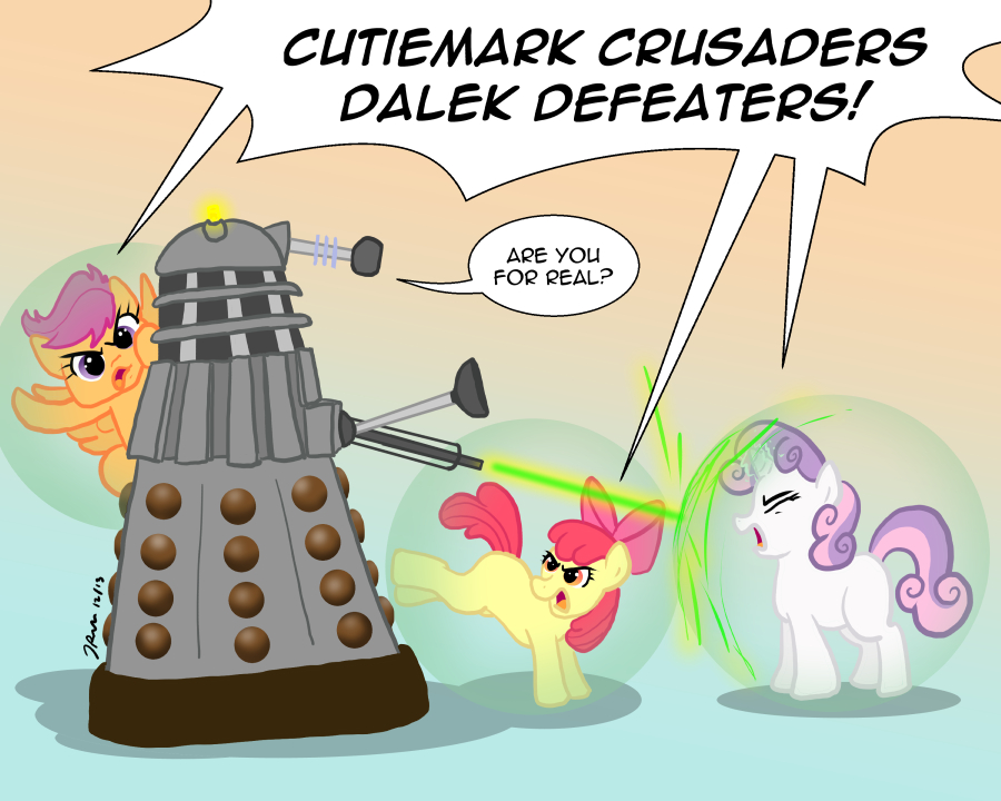 Ponies vs. Daleks Season Two: Cutiemark Crusaders!